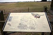 Information board Sutton Hoo Anglo Saxon burial ground, Suffolk