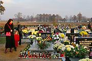 Stradomia Wierzchnia village cemetery, Poland. All Saints Day.