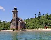 Grand Island East Channel Lighthouse landscape lighthouses in the Upper Peninsula of Michigan