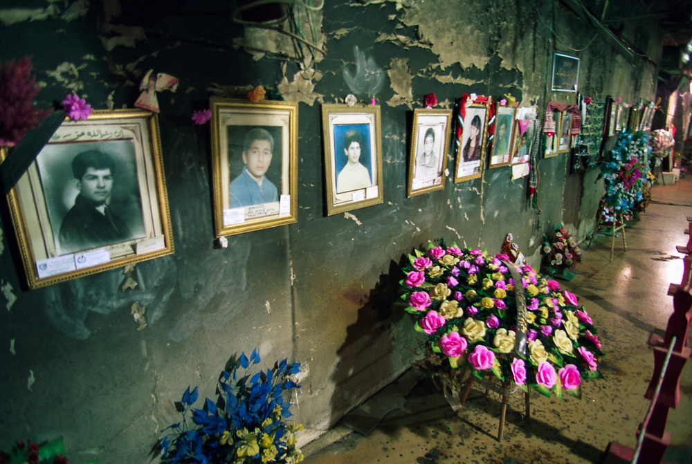 The Amariya bomb shelter, now a memorial, near Baghdad. Over 300 civilians were killed during the Gulf War when allied planes targeted the shelter with armour piercing missiles in a mistaken attempt to kill Saddam Hussein.<br /> Baghdad, Iraq.  30/01/2001
