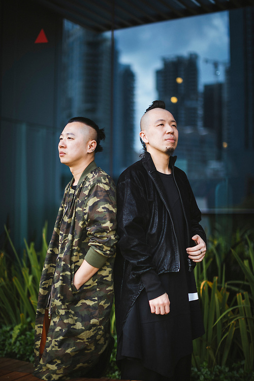A portrait of Kenny and Andrew, the founders of Depression clothing in Singapore.
