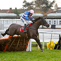 Irish Saint - Ruby Walsh wins.The William Hill - iPad App Now Available Juvenile Hurdle.Kempton Park 27/12/12..©cranhamphoto.com