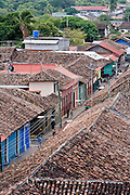 09 JANUARY 2007 - GRANADA, NICARAGUA: Red tile roofs in Granada, Nicaragua. Granada, founded in 1524, is one of the oldest cities in the Americas. Granada was relatively untouched by either the Nicaraguan revolution or the Contra War, so its colonial architecture survived relatively unscathed. It has emerged as the heart of Nicaragua's tourism revival.  PHOTO BY JACK KURTZ