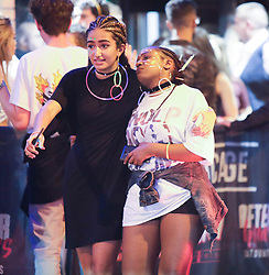 MANCHESTER 19.09.2017 A female is helped to stay on here feet by a friend.<br /> <br /> <br /> Freshers week continues in Manchester which has seen 1000s of students out drinking every night since Sunday.