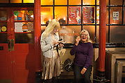 ANNA BADDELEY;  LYNN BARBER, The Omnivore hosts the third Hatchet  Job of the Year Award. Sponsored by the Fish Society.  The Coach and Horses. Greek st. Soho. London. 11 February 2014.