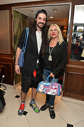 "ROCKY MAZZILLI and LOUISE MAZZILLI at a party to celebrate the publication of ""Lady In Waiting: The Wristband Diaries"" By Lady Victoria Hervey held at The Goring Hotel, Beeston Place, London on 9th May 2016."