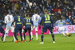 """Foto LaPresse/Filippo Rubin<br /> 26/12/2018 Ferrara (Italia)<br /> Sport Calcio<br /> Spal - Udinese - Campionato di calcio Serie A 2018/2019 - Stadio """"Paolo Mazza""""<br /> Nella foto: ANDREA PETAGNA (SPAL)<br /> <br /> Photo LaPresse/Filippo Rubin<br /> December 26, 2018 Ferrara (Italy)<br /> Sport Soccer<br /> Spal vs Udinese - Italian Football Championship League A 2018/2019 - """"Paolo Mazza"""" Stadium <br /> In the pic: ANDREA PETAGNA (SPAL)"""