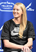 Feb 10, 2017; New York, NY; Sandi Morris (USA) during a press conference prior to the 110th Millrose Games at the NYRR RunCenter.