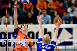 Alen Sket of ACH at final match of Slovenian National Volleyball Championships between ACH Volley Bled and Salonit Anhovo, on April 24, 2010, in Radovljica, Slovenia. ACH Volley defeated Salonit 3rd time in 3 Rounds and became Slovenian National Champion.  (Photo by Vid Ponikvar / Sportida)