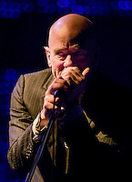 R.E.M.'s Michael Stipe at Madison Square Garden in 2008, performing on the band's final tour.