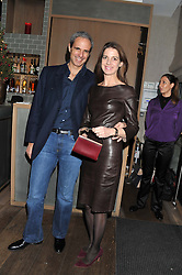 LORENZO & SABRINA GRABAU at a dinner to celebrate the opening of the Serpentine's Gallery new exhibition of work by Jonas Mekas held at Cassis, 232-236 Brompton Road, London SW3, London on 3rd December 2012.