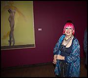 ZANDRA RHODES, Allen Jones private view. Royal Academy,  London. 11 November  2014.