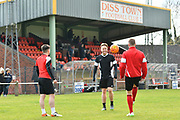 Diss, Norfolk. Football action from Diss Town v Coggeshall Town. Pictured is Olly Murs. <br /> <br /> Picture: MARK BULLIMORE