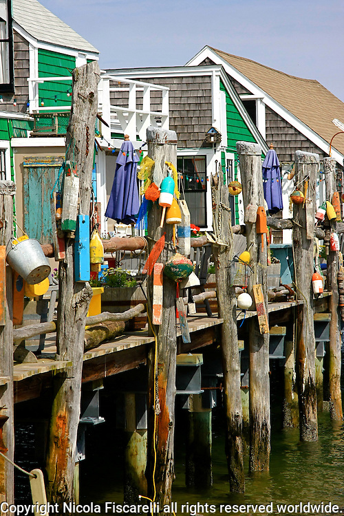 A weathered fisherman wharf in Provincetown Cape Cod.