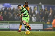 Forest Green Rovers Dayle Grubb(8) passes the ball forward during the EFL Sky Bet League 2 match between Forest Green Rovers and Cambridge United at the New Lawn, Forest Green, United Kingdom on 20 January 2018. Photo by Shane Healey.