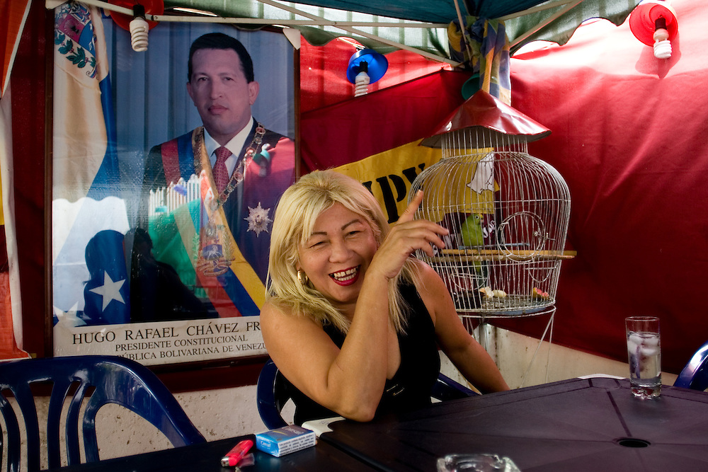 Lina Ron, fundadora del partido UPV (Union Popular Venezolana), partido que simpatiza con el PSUV. Caracas, 02-05-08 (ivan gonzalez)