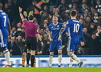 Football - 2016 / 2017 Premier League - Chelsea vs. Hull City <br /> <br /> Gary Cahill of Chelsea screams to referee Neil Swarbrick as he appeals for a penalty at Stamford Bridge.<br /> <br /> COLORSPORT/DANIEL BEARHAM