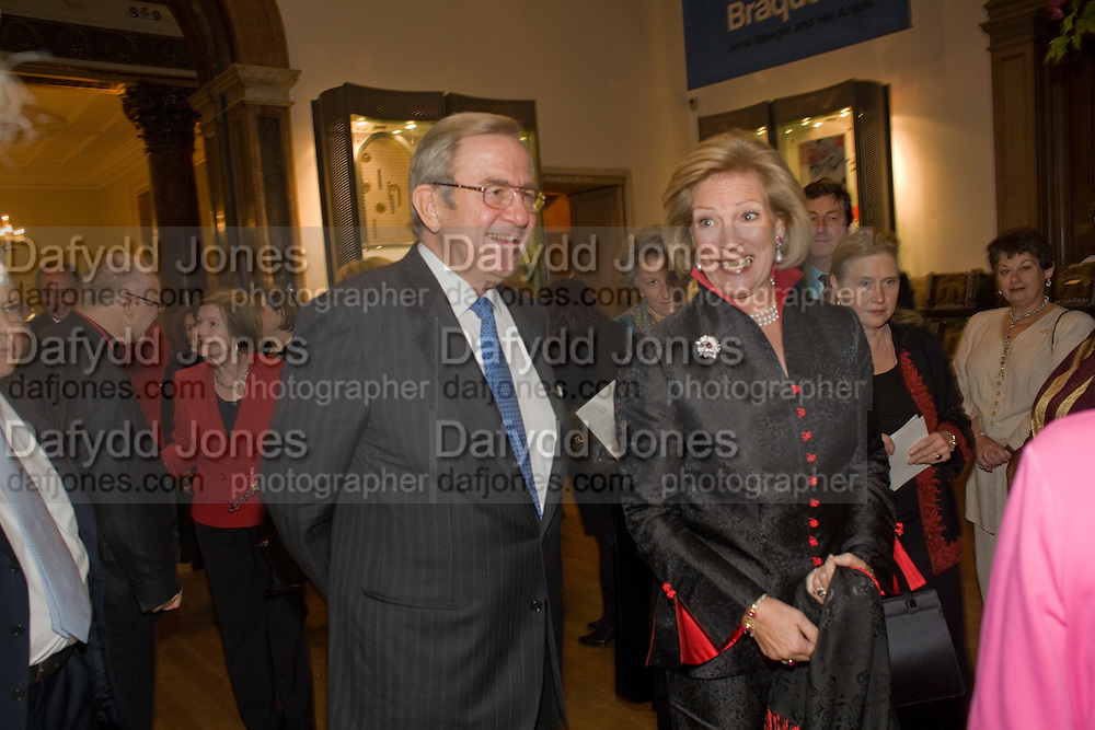 KING CONSTANTINE OF GREECE; QUEEN ANNE-MARIE OF GREECE, Byzantium 330-1453. Royal academy. Piccadilly. London. 21 October 2008 *** Local Caption *** -DO NOT ARCHIVE-© Copyright Photograph by Dafydd Jones. 248 Clapham Rd. London SW9 0PZ. Tel 0207 820 0771. www.dafjones.com.