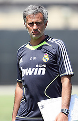 JOSE MOURINHO.REAL MADRID HEAD COACH.REAL MADRID 2ND DAY PRE SEASON CAMP IN LOS ANGELES.LOS ANGELES, CALIFORNIA, USA.30 July 2010.GAF21617..  .WARNING! This Photograph May Only Be Used For Newspaper And/Or Magazine Editorial Purposes..May Not Be Used For, Internet/Online Usage Nor For Publications Involving 1 player, 1 Club Or 1 Competition,.Without Written Authorisation From Football DataCo Ltd..For Any Queries, Please Contact Football DataCo Ltd on +44 (0) 207 864 9121
