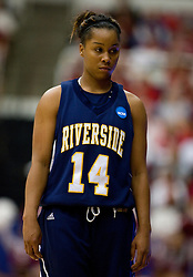 March 20, 2010; Stanford, CA, USA; UC Riverside Highlanders guard Tre'Shonti Nottingham (14) during the first half against the Stanford Cardinal in the first round of the 2010 NCAA womens basketball tournament at Maples Pavilion. Stanford defeated UC Riverside 79-47.