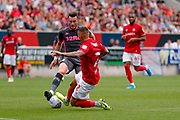 Leeds United midfielder Jack Harrison (22), on loan from Manchester City,  during the EFL Sky Bet Championship match between Bristol City and Leeds United at Ashton Gate, Bristol, England on 4 August 2019.
