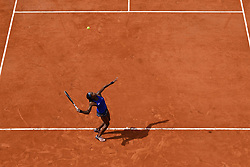 May 23, 2019, Paris, France: CORI GAUFF of the US in action against Kaja Juvan of Slovakia during their qualification round match at the French Open in Paris. Juvan won 6:3, 6:3. (Credit Image: © Panoramic via ZUMA Press)