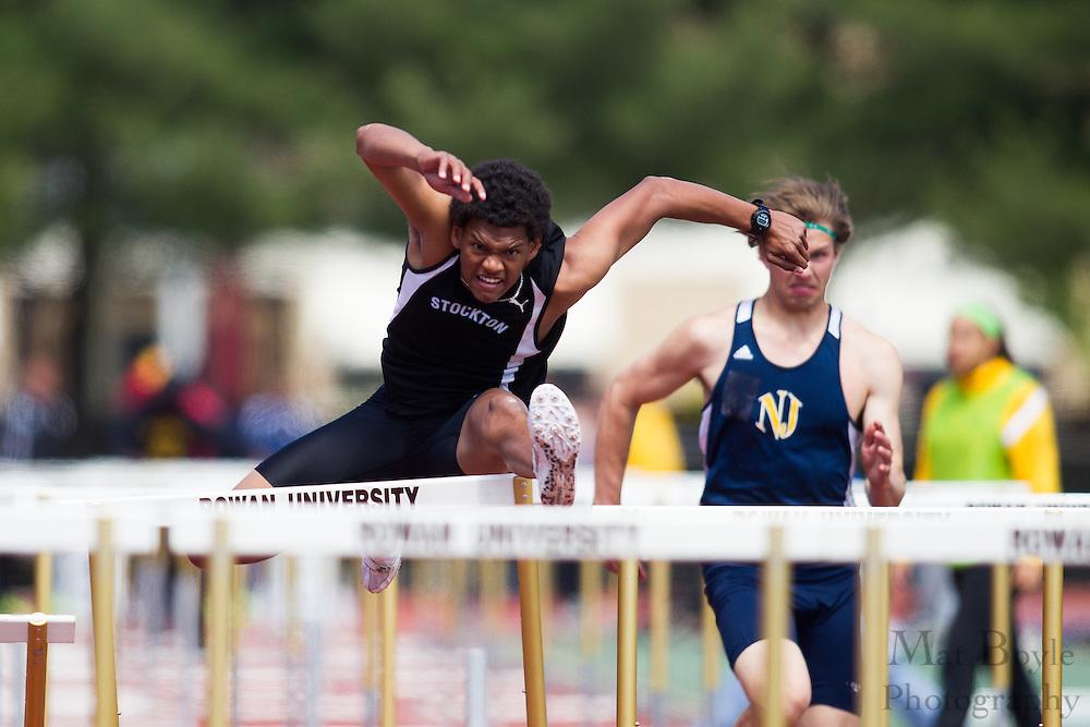 Men's 110 meter hurdles at the NJAC Track and Field Championships at Richard Wacker Stadium on the campus of  Rowan University  in Glassboro, NJ on Sunday May 5, 2013. (photo / Mat Boyle)