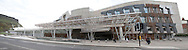 The Scottish parliament building in Edinburgh. Note this is a composited panoramic photo.