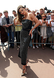 Model Miranda Kerr attends the Magnum Pink and Black Launch at Magnum Beach during the 68th Annual Cannes Film Festival in Cannes, France. 14/05/2015<br />
