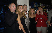 PETE TOWNSHEND, Jerry Hall, Bob Geldof, Jeanne Marine  AND RACHEL FULLER. First night party for High Society. Shanghai Blues. High Holborn.  October 10 2005. ONE TIME USE ONLY - DO NOT ARCHIVE © Copyright Photograph by Dafydd Jones 66 Stockwell Park Rd. London SW9 0DA Tel 020 7733 0108 www.dafjones.com