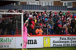 BRACKLEY FANS, Brackley Town v Wealdstone FA Trophy Semi Final First Leg, St James Park Saturday 17th March 2018. Score 1-0 (Alex Gudger)