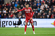 Ashley Fletcher (11) of Middlesbrough during the EFL Sky Bet Championship match between Swansea City and Middlesbrough at the Liberty Stadium, Swansea, Wales on 14 December 2019.