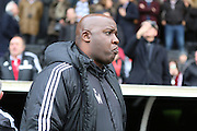 Nottingham Forest Head Coach Paul Williams looking on during the Sky Bet Championship match between Fulham and Nottingham Forest at Craven Cottage, London, England on 23 April 2016. Photo by Matthew Redman.