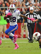 Oct. 14, 2012; Glendale, AZ, USA; Buffalo Bills running back C.J. Spiller (28) runs the ball during the game against the Arizona Cardinals in the first half at University of Phoenix Stadium. Mandatory Credit: Jennifer Stewart-US PRESSWIRE