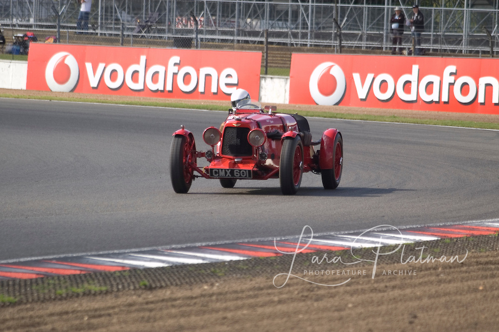 Various scenes of cars and races at Silverstone Classic 2009,
