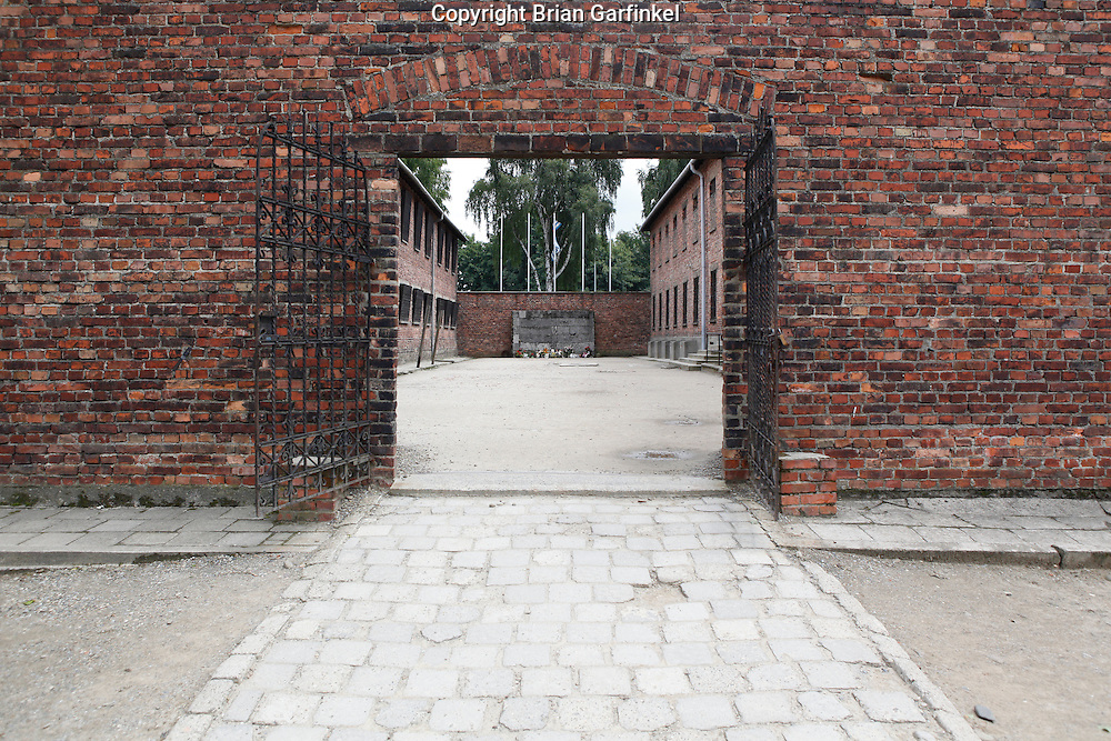 A square where victims were executed in Auschwitz Concentration Camp in Poland on Tuesday July 5th 2011.  (Photo by Brian Garfinkel)