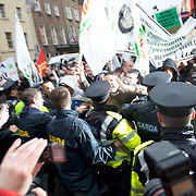 Protest march against government economic policies and support to the banks in Dublin.