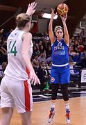 DESCRIZIONE : Roma Amichevole Pre Eurobasket 2015 Nazionale Italiana Femminile Senior Italia Ungheria Italy Hungary<br /> GIOCATORE : Alessandra Formica<br /> CATEGORIA : tiro three points<br /> SQUADRA : Italia Italy<br /> EVENTO : Amichevole Pre Eurobasket 2015 Nazionale Italiana Femminile Senior<br /> GARA : Italia Ungheria Italy Hungary<br /> DATA : 15/05/2015<br /> SPORT : Pallacanestro<br /> AUTORE : Agenzia Ciamillo-Castoria/Max.Ceretti<br /> Galleria : Nazionale Italiana Femminile Senior<br /> Fotonotizia : Roma Amichevole Pre Eurobasket 2015 Nazionale Italiana Femminile Senior Italia Ungheria Italy Hungary<br /> Predefinita :