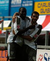 Photo: Jed Wee/Sportsbeat Images.<br /> Carlisle United v Bristol City. Coca Cola League 1. 21/04/2007.<br /> <br /> Bristol City's Enoch Showunmi (L) celebrates with Liam Fontaine.