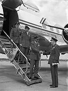 General Moore arriving at Dublin Airport .26/05/1958
