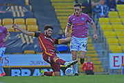 Ian Henderson is about to be fouled to give Rochdale a penalty during the EFL Sky Bet League 1 match between Bradford City and Rochdale at the Northern Commercials Stadium, Bradford, England on 20 October 2018.