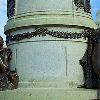 Representing the phases of President Garfield's life and career, the figures at the base of the statue convey a very lifelike and powerful part of the monument.