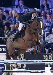 Duguet Romain, (FRA), Quorida de Treho <br /> Longines FEI World Cup presented by Landrover<br /> Vlaanderen Kerstjumping - Memorial Eric Wauters - <br /> Mechelen 2015<br /> © Hippo Foto - Dirk Caremans<br /> 30/12/15