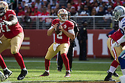 San Francisco 49ers quarterback Blaine Gabbert (2) looks for an open receiver against the Dallas Cowboys at Levis Stadium in Santa Clara, Calif., on October 2, 2016. (Stan Olszewski/Special to S.F. Examiner)