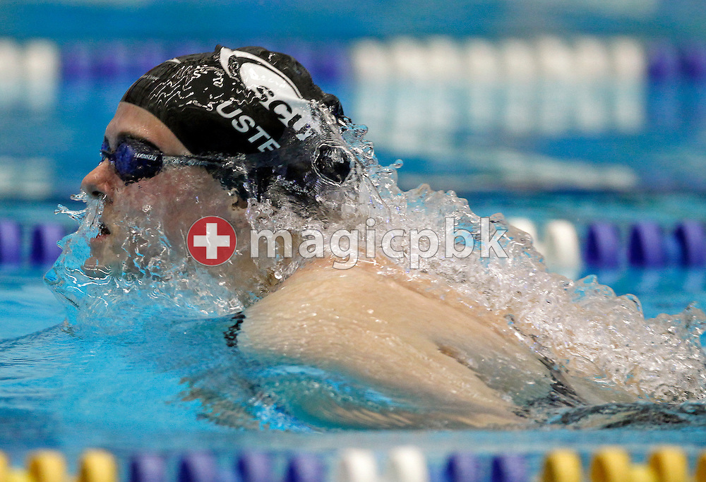 SCUW's second placed Stephanie SPAHN of Switzerland competes in the women's 200m Breaststroke Final at the Swiss Swimming Championships in Geneva, Switzerland, Thursday, March 11, 2010. (Photo by Patrick B. Kraemer / MAGICPBK)