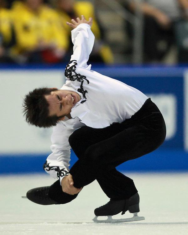 20101030 -- Kingston, Ontario -- Nobunari Oda of Japan skates his free skate at Skate Canada International in Kingston, Ontario, Canada, October 30, 2010. Oda captured the silver medal.<br /> AFP PHOTO/Geoff Robins