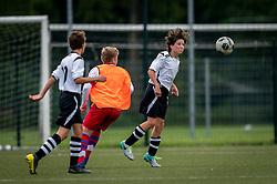 Pepijn #3 of VV Maarssen  in action. VV Maarssen O14-1 played a friendly game against CDW O15-2. Maarssen won 9-2 on July 11, 2020 at Daalseweide sports park Maarssen.