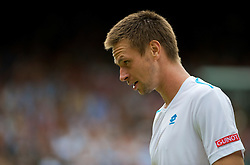 LONDON, ENGLAND - Monday, June 29, 2009: Robin Soderling (SWE) during the Gentlemen's Singles 4th Round match on day seven of the Wimbledon Lawn Tennis Championships at the All England Lawn Tennis and Croquet Club. (Pic by David Rawcliffe/Propaganda)