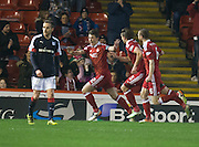 Aberdeen&rsquo;s Ryan Jack celebrates after scoring  - Aberdeen v Dundee in the Ladbrokes Scottish Premiership at Pittodrie, Aberdeen - Photo: David Young, <br /> <br />  - &copy; David Young - www.davidyoungphoto.co.uk - email: davidyoungphoto@gmail.com