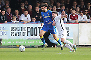 AFC Wimbledon defender & captain George Francomb (7) and Northampton Town defender David Buchanan (3) during the EFL Sky Bet League 1 match between AFC Wimbledon and Northampton Town at the Cherry Red Records Stadium, Kingston, England on 11 March 2017. Photo by Stuart Butcher.
